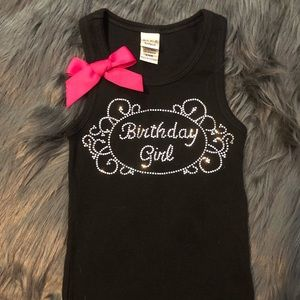 Other - Birthday girl crystal tank top